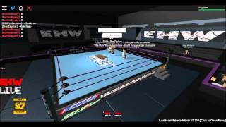 (EHW) EXTREAM HARDCORE WRESTLING on roblox with the assassin