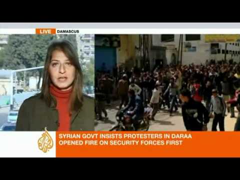 Full AlJazeera report on Daraa and Syrian protests on 26th March 2011