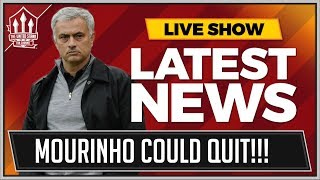 Mourinho could quit manchester united! man utd news