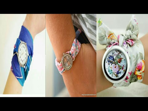 Most Beautiful Floral Strap Wrist Watches For Girls And Women -handmade Cloth Band Bracelet