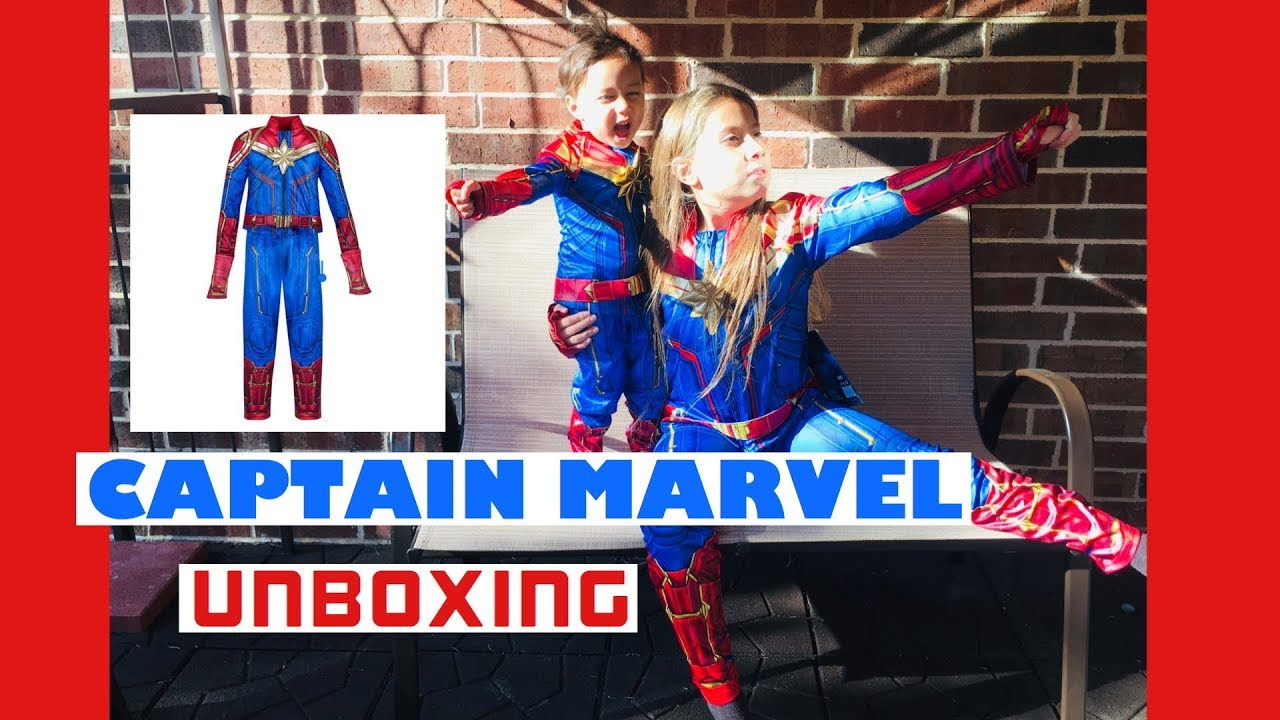 Captain Marvel Kids Costume From Disney Store Unboxing Halloween 2019 Review Youtube It begins with a (her)o. youtube