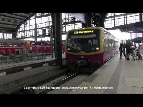 S-Bahn Berlin trains at Berlin Friedrichstrasse, Berlin, Germany