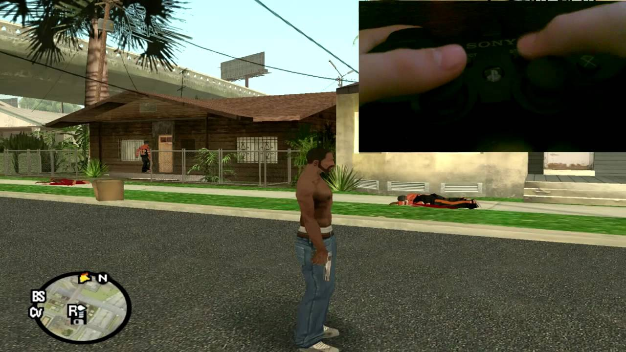 how to play gta san andreas with ps3 controller on pc