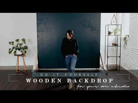 [DIY| Making a YouTube and Photo Studio Setup | Build a Wooden Backdrop