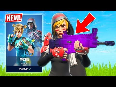NEW MOXIE SKIN!! Trios Tournament!! (Fortnite Battle Royale)