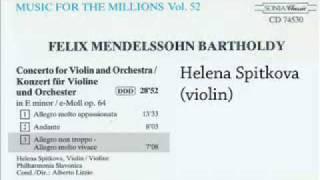 Mendelssohn Violin Concerto in Em 3rd Mov - Helena Spitkova