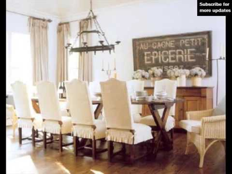 Dining Room Chair Slipcovers For Homes - YouTube