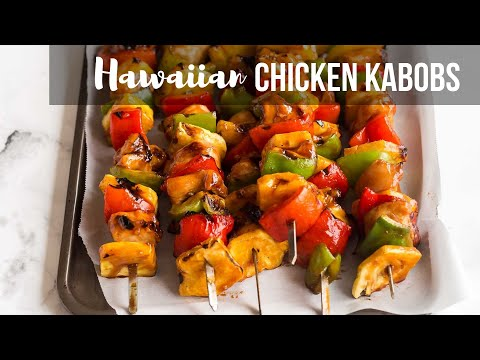 Hawaiian Chicken Kabobs with a simple marinade! | The Recipe Rebel