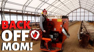 SHE'S RUNNING THE FARM!  (training our teenage daughter how to sheep farm) Vlog 251