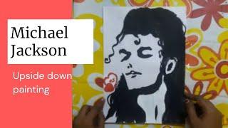 How To Draw Michael Jackson Upside Down|| Josh Art And Craft