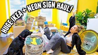 HOUSE MAKEOVER!🏠 Huge Ikea, Homesense, Neon Sign & Clothing Haul!