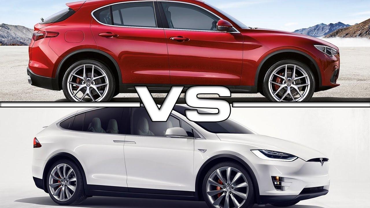 2018 tesla x.  2018 2018 Alfa Romeo Stelvio Vs 2017 Tesla Model X Inside Tesla X