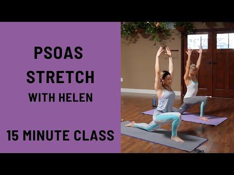15 Minute Yoga Class Psoas Stretch