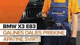 BMW X3 Ašies montavimas keitimas: instrukcija