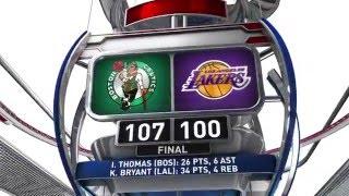 Boston Celtics vs Los Angeles Lakers - April 3, 2016