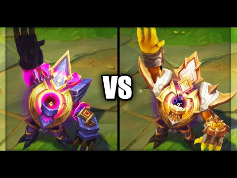 Dark Star Malphite vs Prestige Dark Star Malphite Skins Comparison (League of Legends)