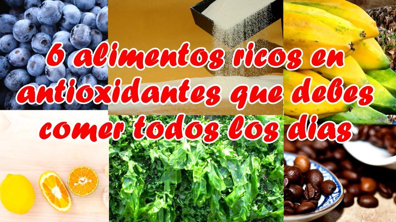 Alimentos antioxidantes naturales como eliminar los radicales libres youtube - Alimentos adelgazantes naturales ...