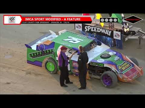 Sport Modified/Modified Features - Clay County Speedway - 7/8/18