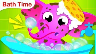 Healthy Habits | Bath Time with Ellie the Elephant | Nursery Rhymes by Little Angel