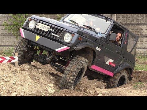 Suzuki Santana SJ 4x4 Extreme Off-road Trial - Girl Driving