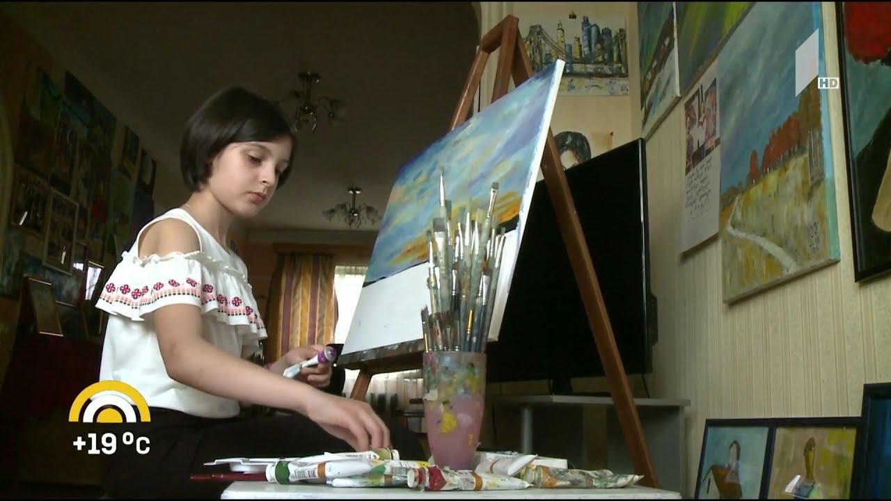 ახალიდღე ათი წლის თვითნასწავლი მხატვარი