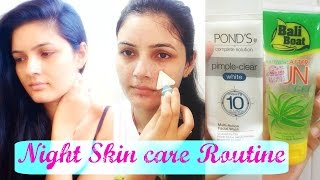 Night Skin care routine- - Acne/Oily/Blackhead/Whitehead | YouTube India