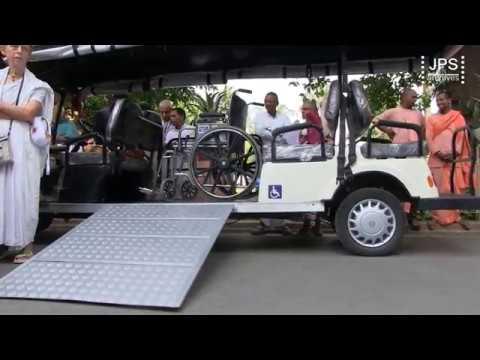 2017 H.H.Jayapataka Swami's inaugaration of his new electric vehicle.