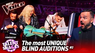 Truly UNIQUE Blind Auditions on The Voice #2 | powered by TALENT SNACKS