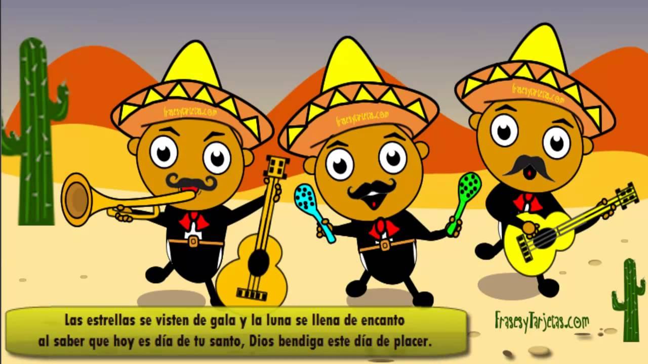 Feliz cumpleaños, las mañanitas chistosas con Mariachis, en el día de tu Santo YouTube