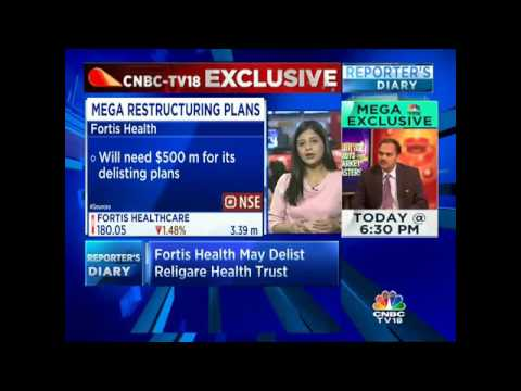 CNBC-TV18 EXCLUSIVE: Fortis Health May Delist Religare Health Trust