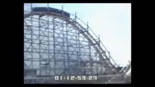 OCEAN VIEW PARK ROCKET roller coaster being dynamited near Norfolk, VA