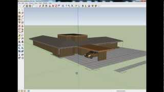 Contemporary Usonian House Plan Partially Completed In Google Sketchup