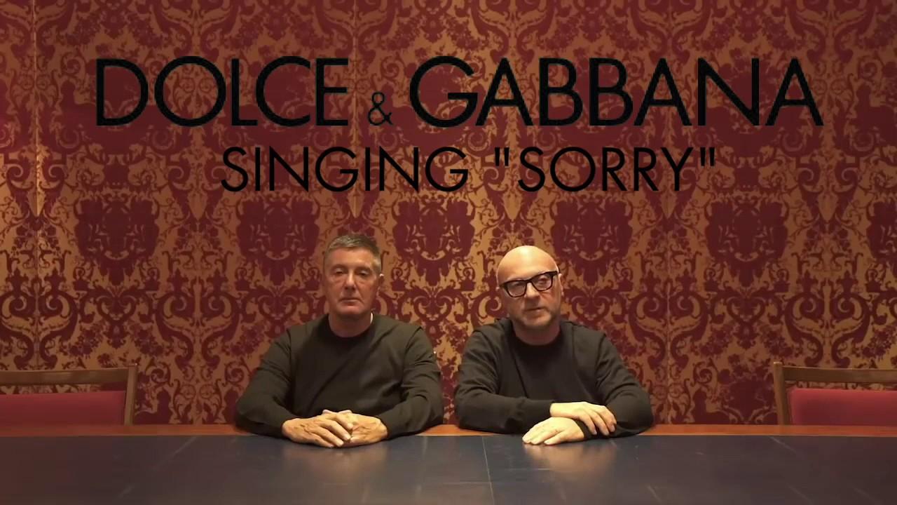 Dolce & Gabbana singing Justin Bieber's Sorry to China
