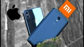 АЙФОН X против XIAOMI REDMI 5 PLUS. Сравнение управления жестами!