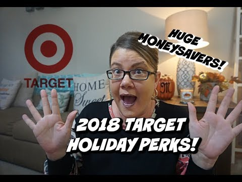 2018 TARGET HOLIDAY PERKS | SAVE LOTS of MONEY on GIFTS! | SAVVY COUPON SHOPPER