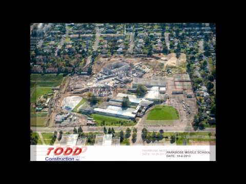 New Parkrose Middle School aerials from Todd Construction