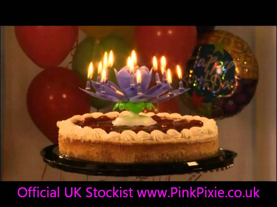 UK The Most Amazing Birthday Candle Ever Opening Musical Flower