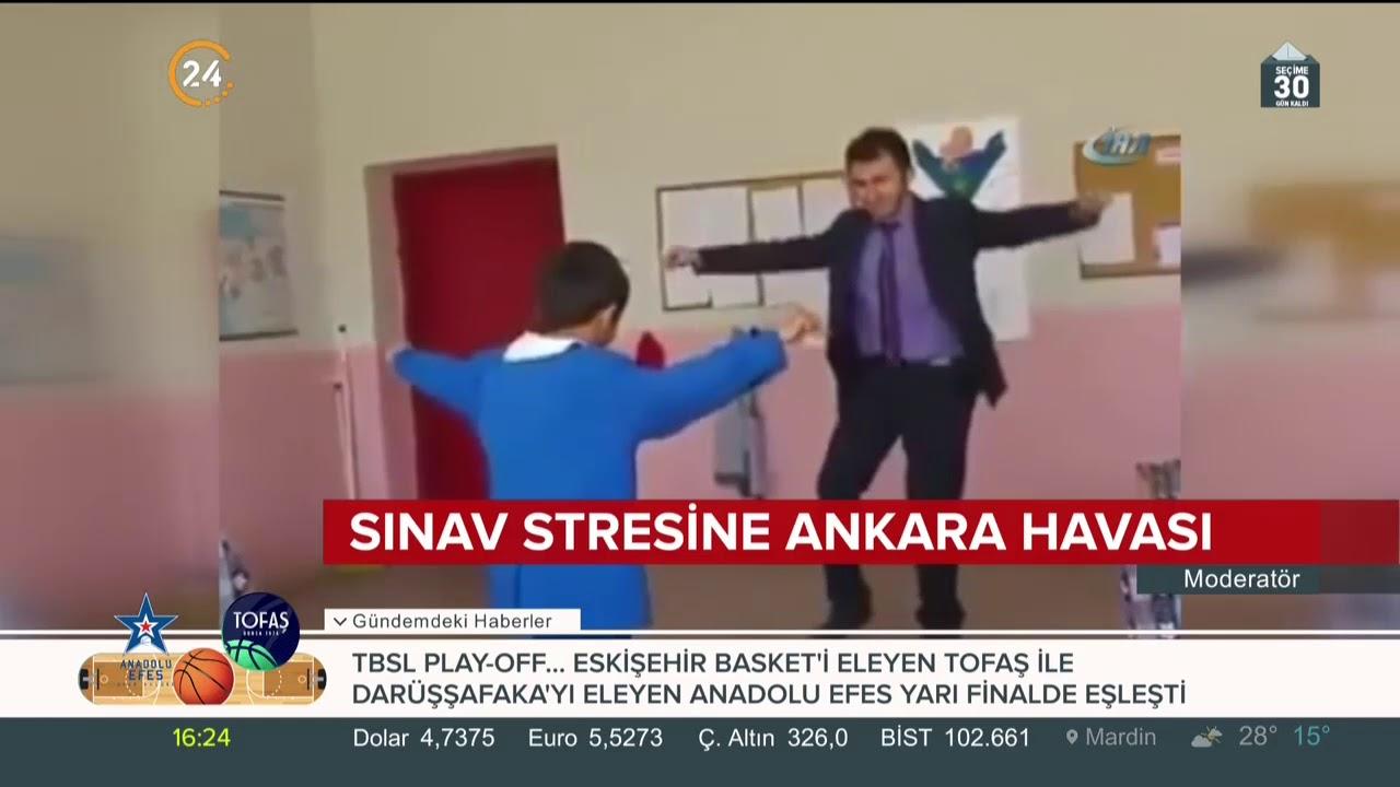 Sınav stresinden kurtulmak için Ankara havası oynuyorlar