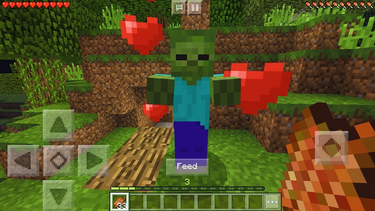 How To Make A Friendly Zombie In Minecraft Pocket Edition