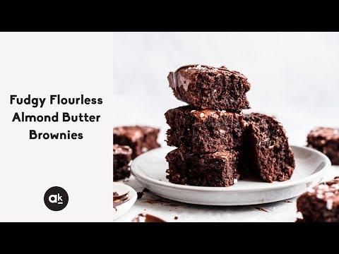 Fudgy Flourless Almond Butter Brownies