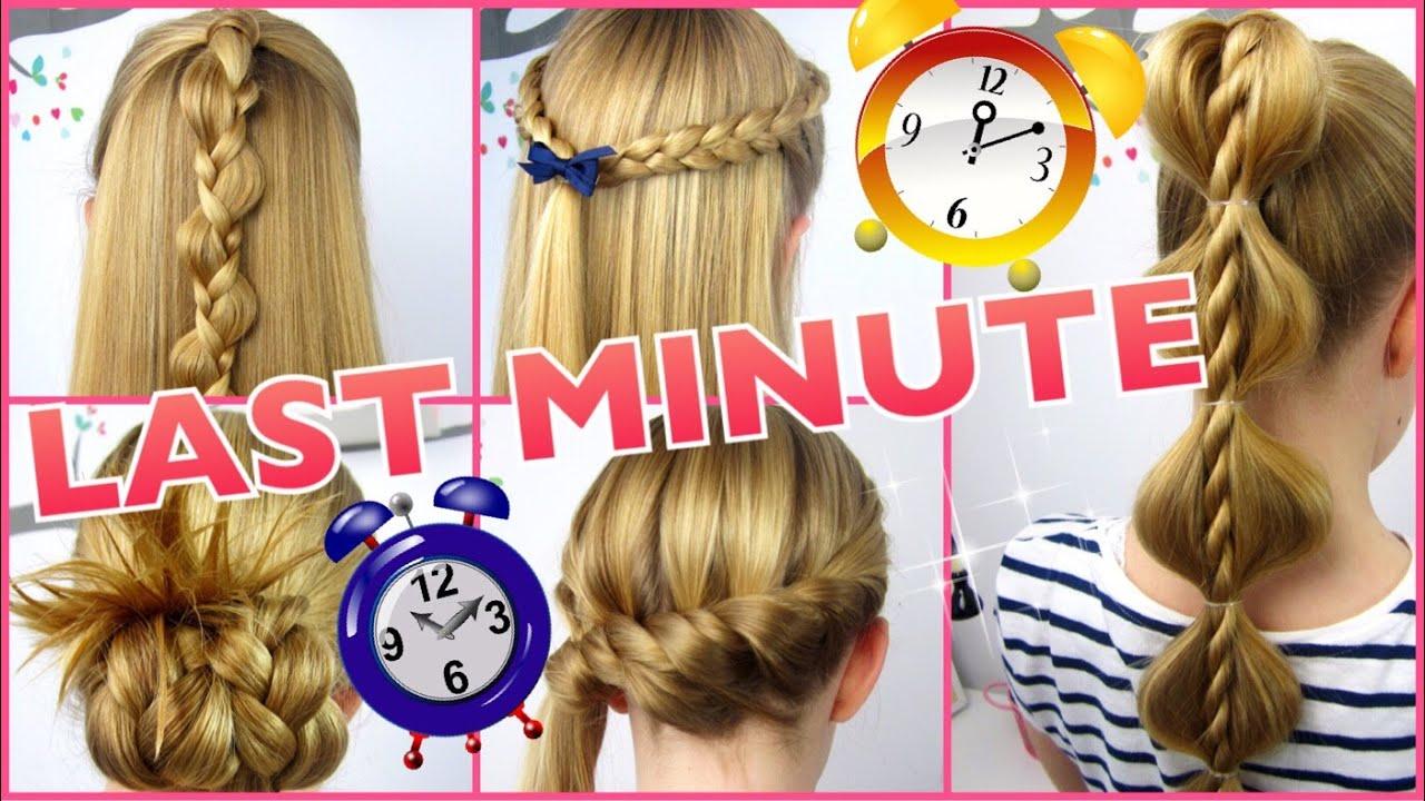 5 X 3 Minuten Frisuren ♥ Last Minute ♥ Coole Frisuren Auf Die