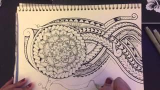 Time-lapse Drawing - Polynesian Tribal