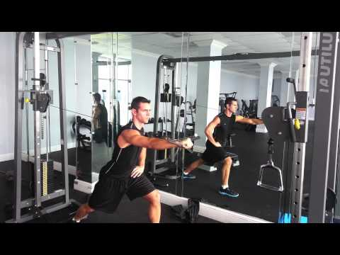 Unilateral Cable Chest Press