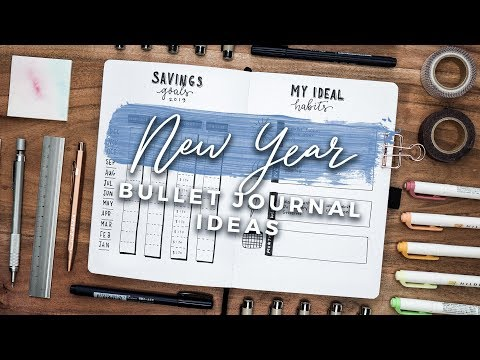 New Year Bullet Journal Spread Ideas! 2019