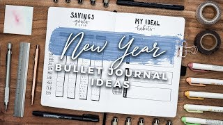 New Year Bullet Journal Spread Ideas! 2019