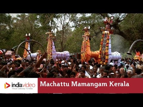 Rhythmic support with hands - Chendamelam at Machattu Mamangam, Kerala