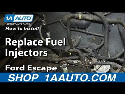 How To Replace Fuel Injectors 01-07 Ford Escape 2.0L