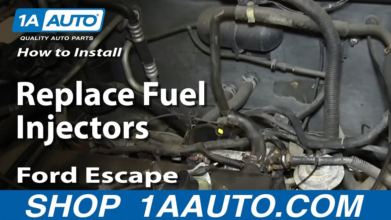 how to replace fuel injectors 01 07 ford escape 2 0l youtube ford escape fuel injector wiring [ 1280 x 720 Pixel ]
