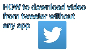Gambar cover How to download Twitter videos | without any app or apps