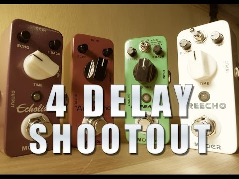 Mooer - 4 Delay Shootout